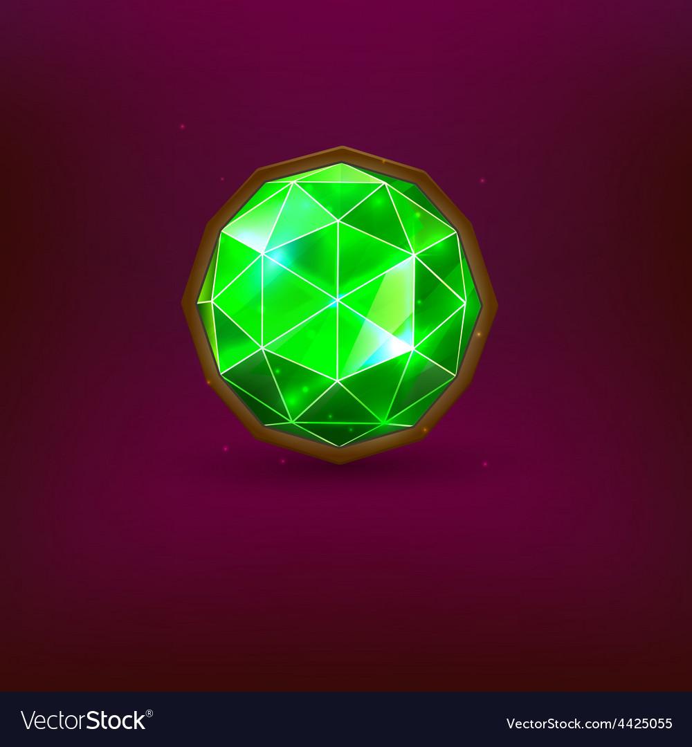 Green gem vector | Price: 1 Credit (USD $1)