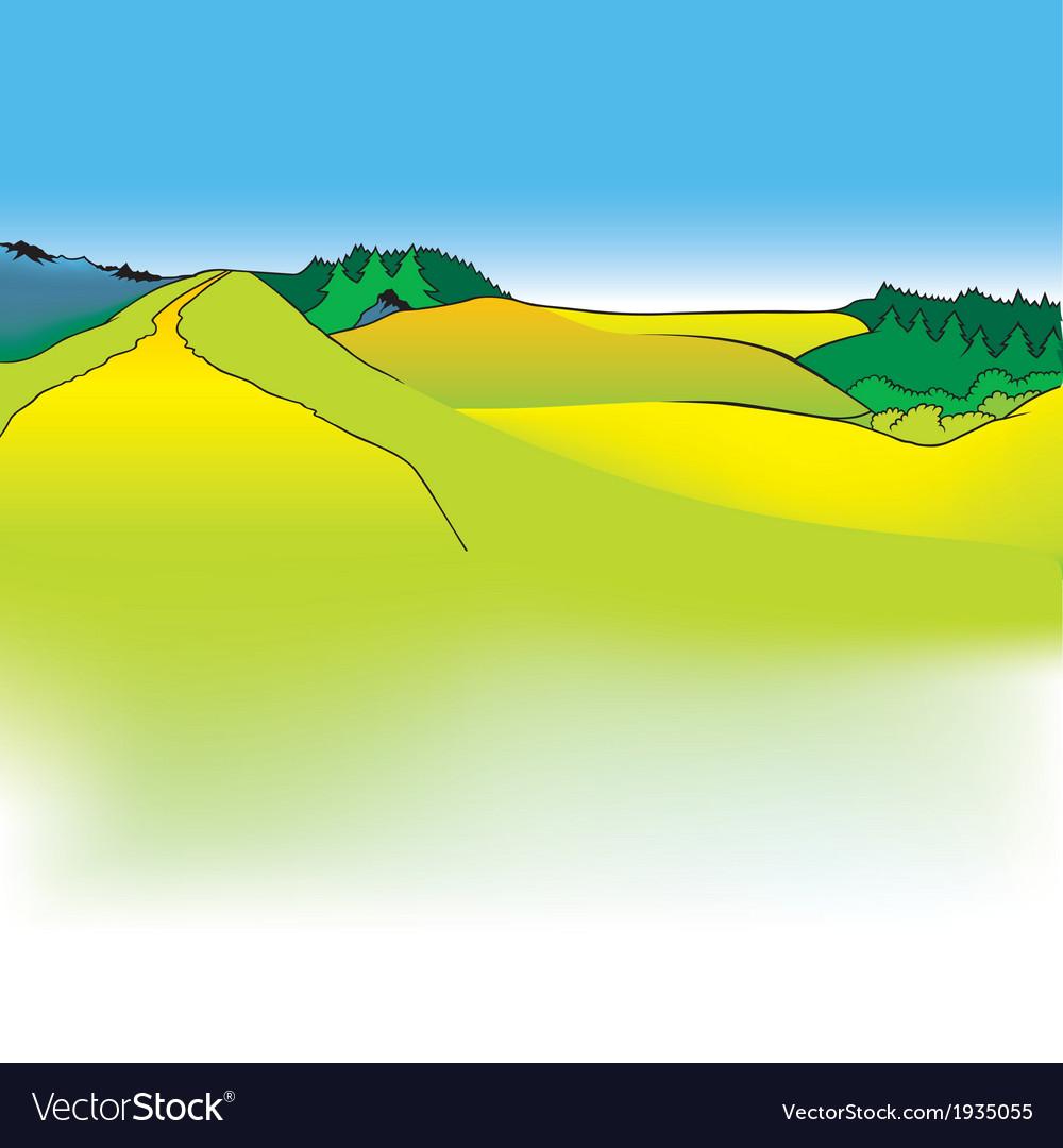 Mountain meadows vector   Price: 1 Credit (USD $1)