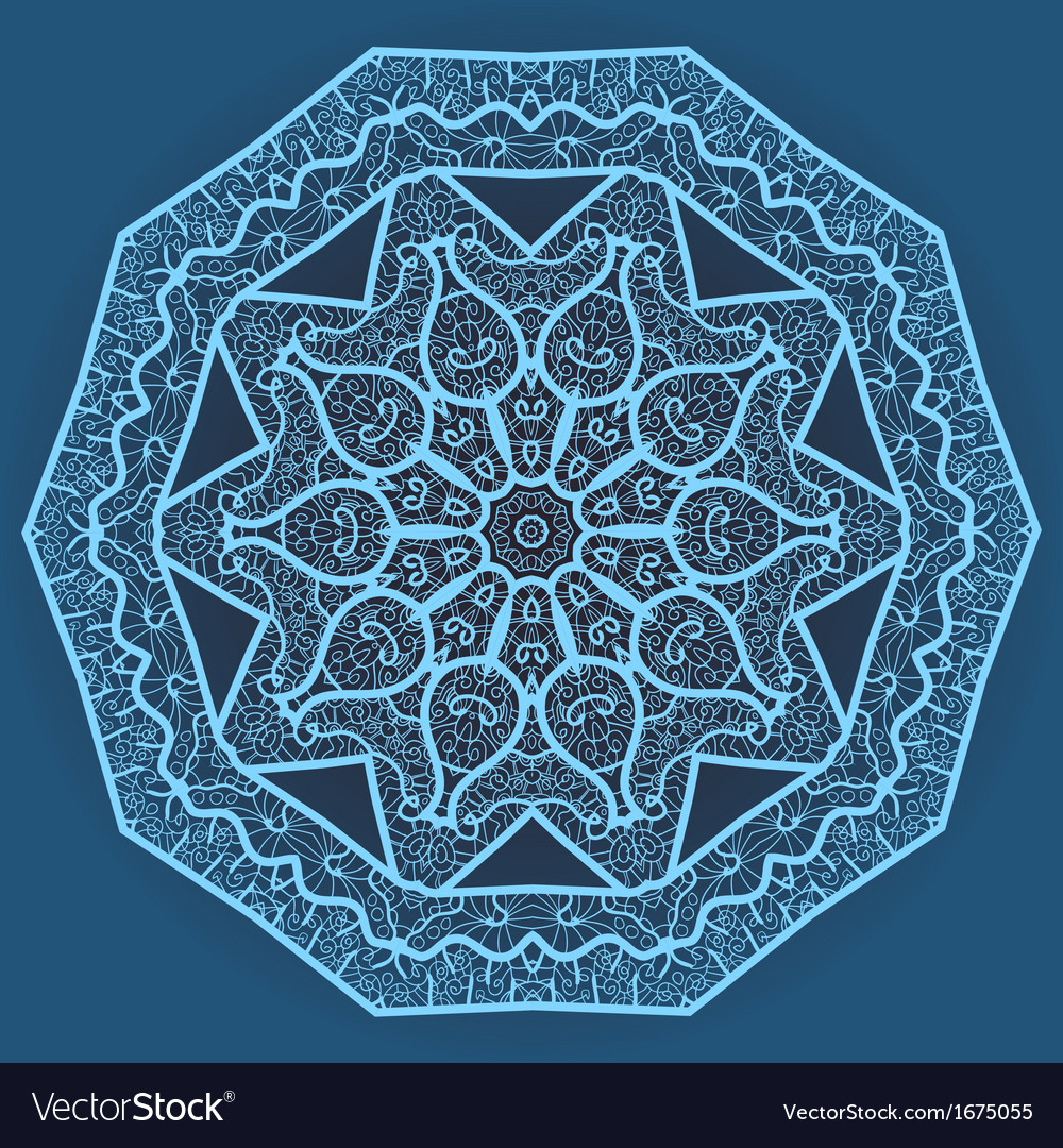Oriental mandala motif vector | Price: 1 Credit (USD $1)