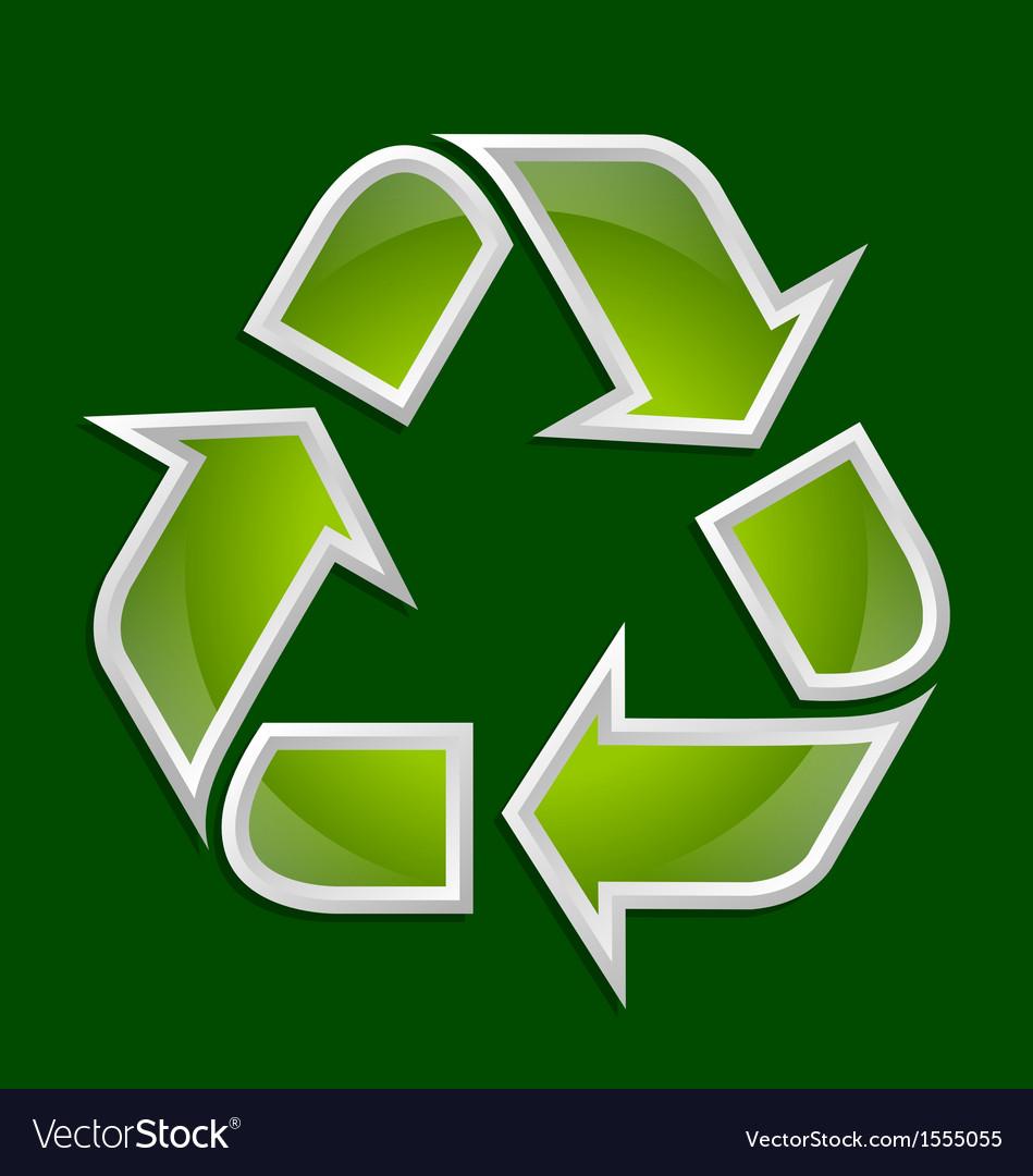 Recycle symbol icon vector   Price: 1 Credit (USD $1)