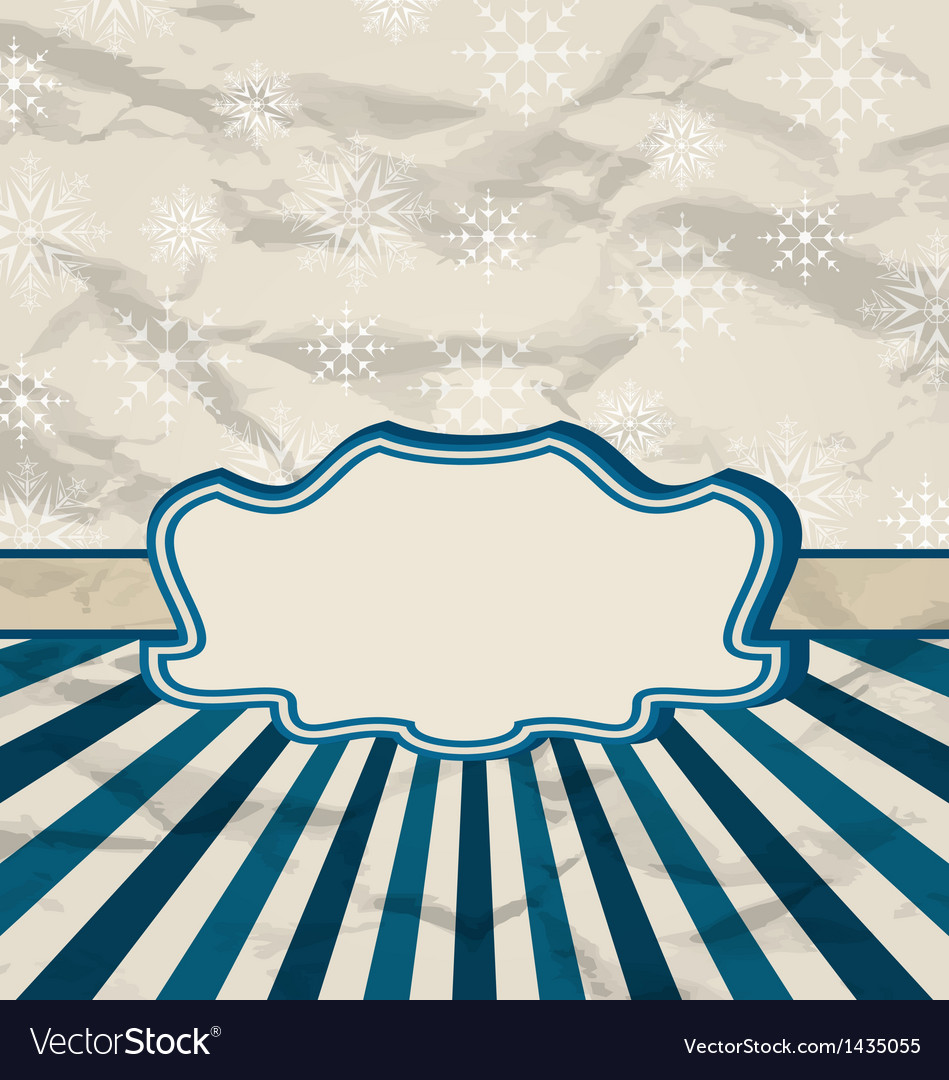 Retro vintage celebration card with snowflakes vector | Price: 1 Credit (USD $1)