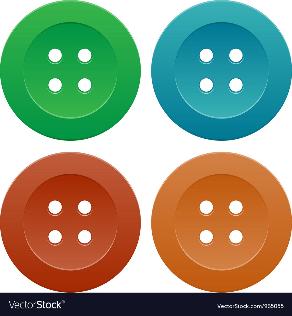 Set of colorful sewing buttons vector | Price: 1 Credit (USD $1)