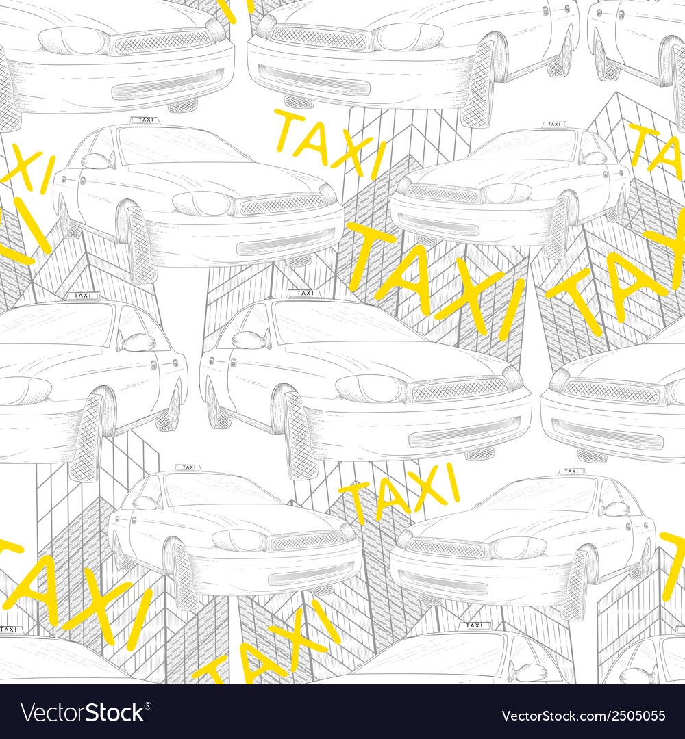 Taxi seamless pattern vector | Price: 1 Credit (USD $1)