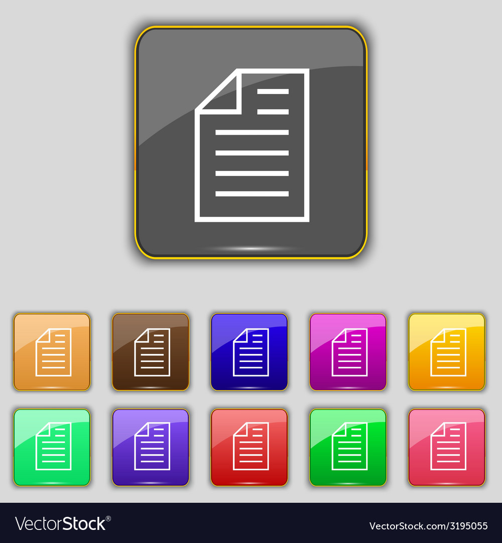 Text file sign icon file document symbol set of vector   Price: 1 Credit (USD $1)