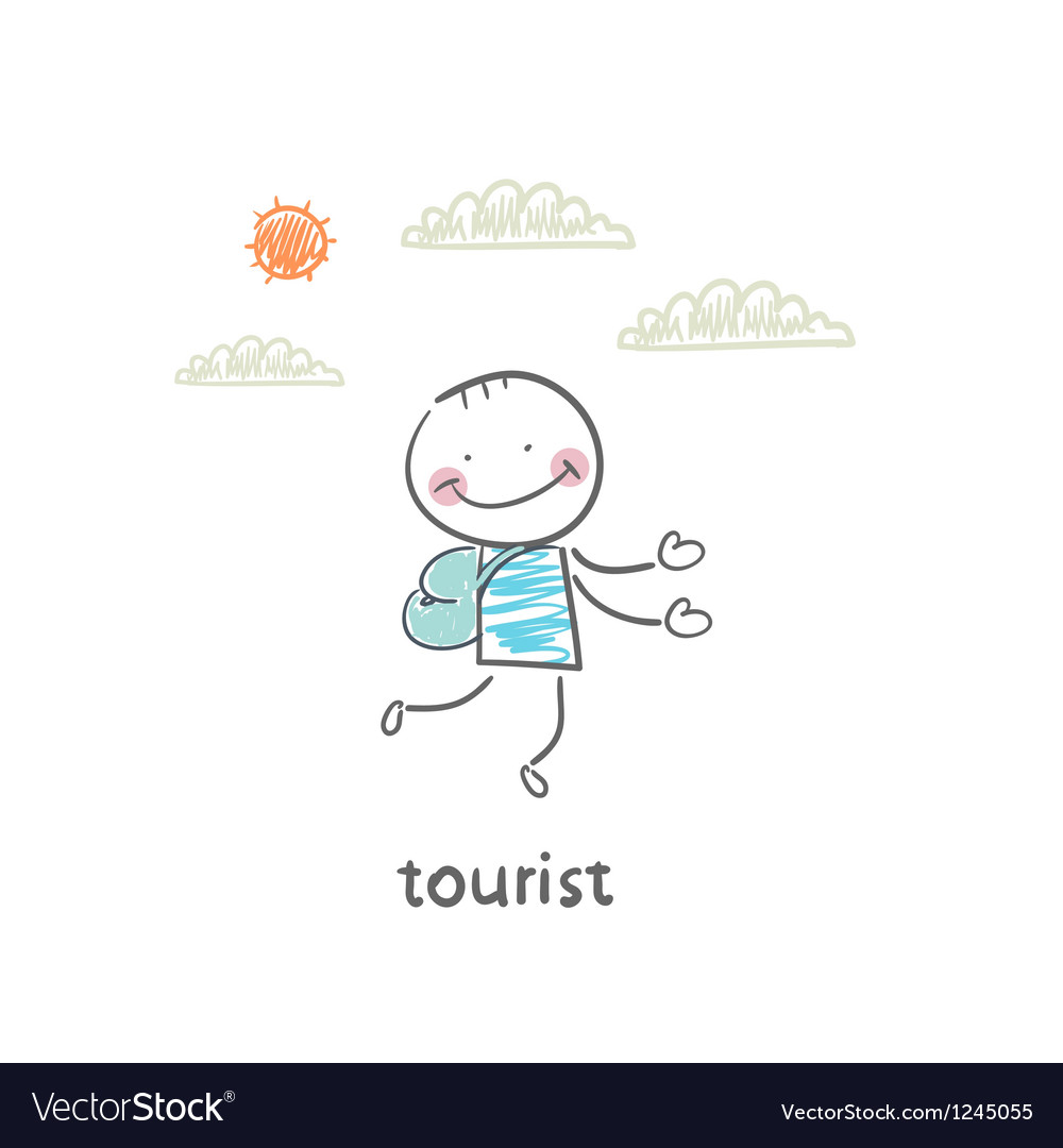 Tourist vector | Price: 1 Credit (USD $1)