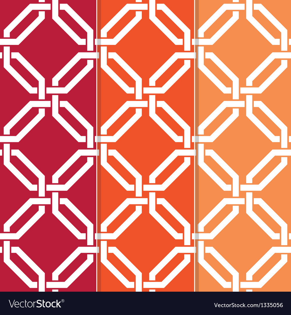 3 seamless interlocked octagons vector | Price: 1 Credit (USD $1)
