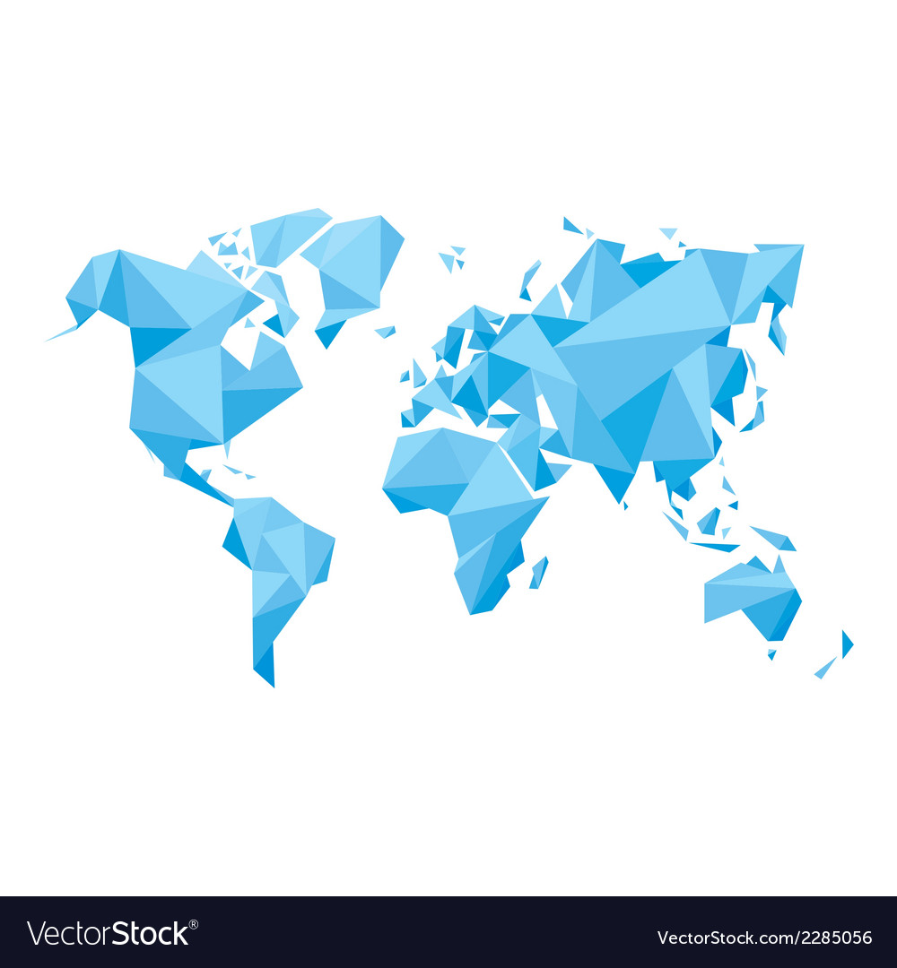 Abstract world map - vector | Price: 1 Credit (USD $1)