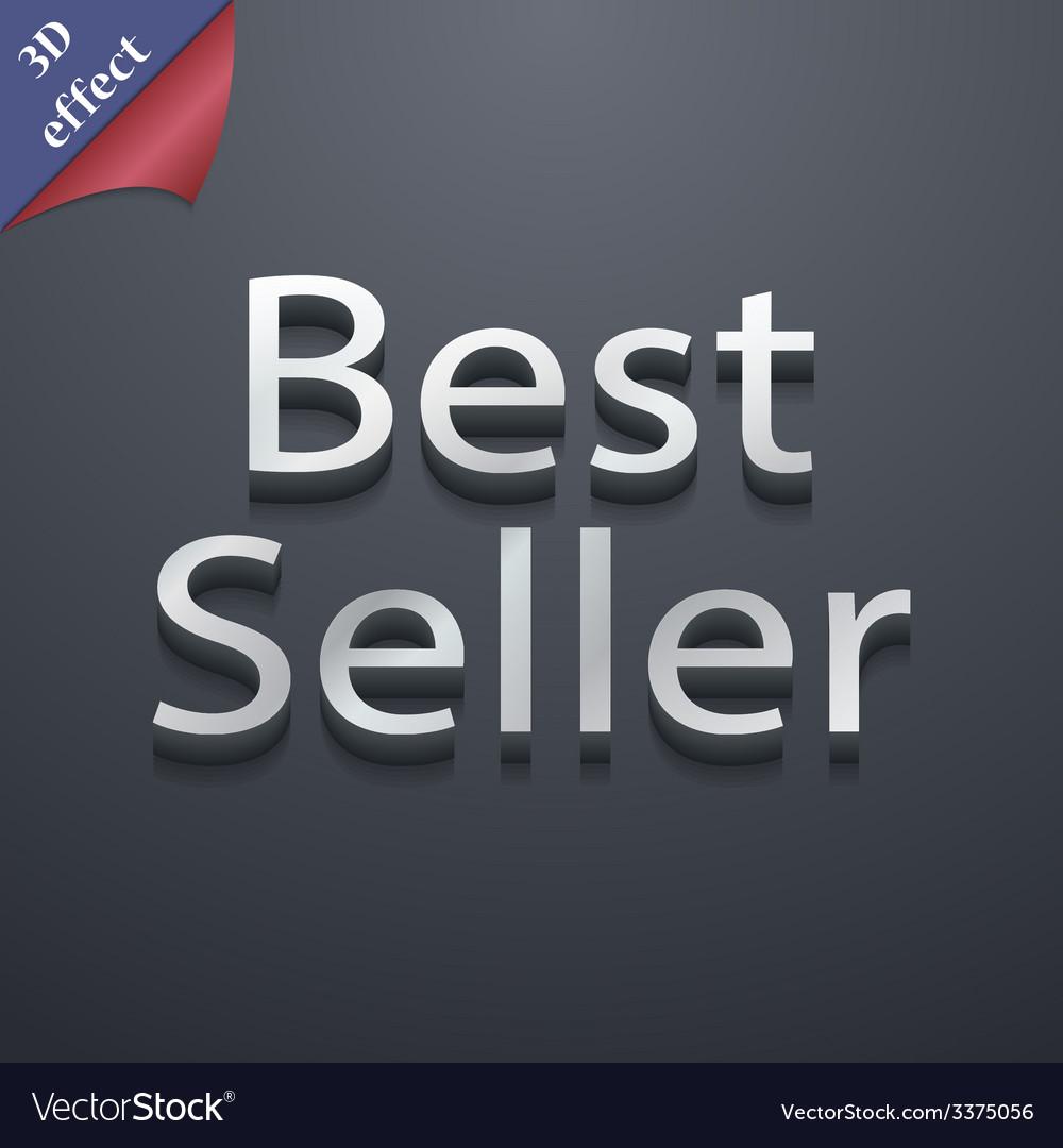 Best seller icon symbol 3d style trendy modern vector | Price: 1 Credit (USD $1)