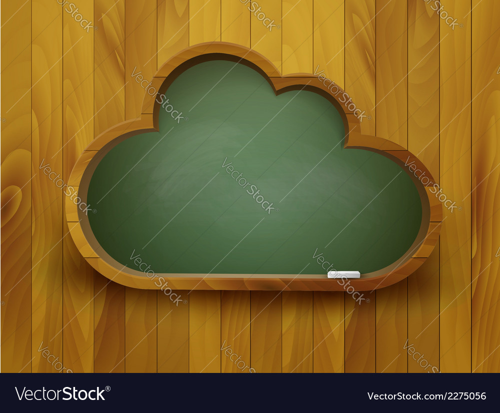 Chalkboard in a shape of a cloud e-learning vector | Price: 1 Credit (USD $1)
