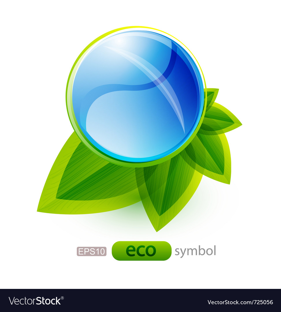 Eco nature concept vector | Price: 1 Credit (USD $1)