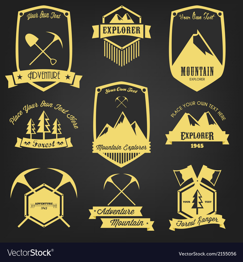 Explorer adventure vintage label vector | Price: 1 Credit (USD $1)