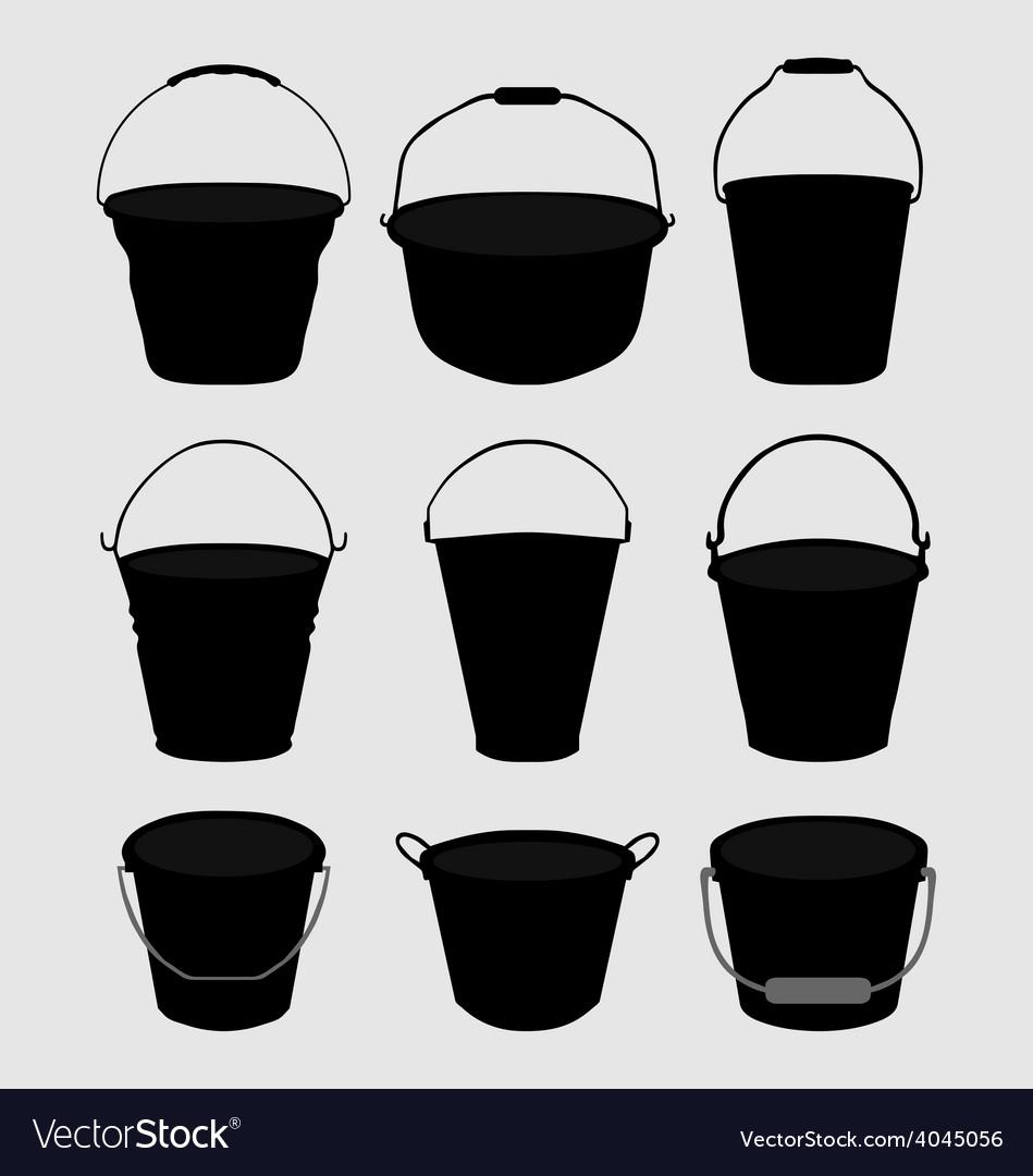 Garden buckets vector | Price: 1 Credit (USD $1)