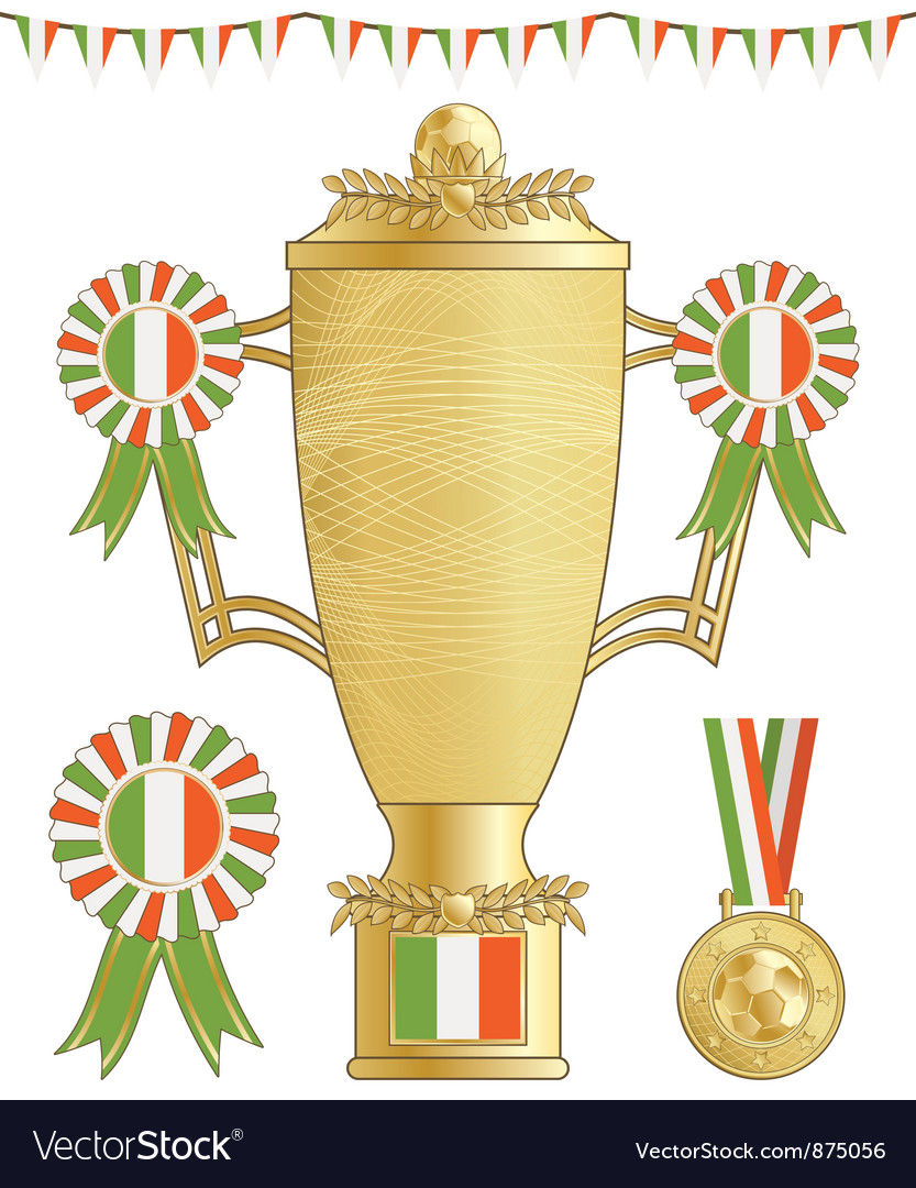 Ireland football trophy vector | Price: 1 Credit (USD $1)