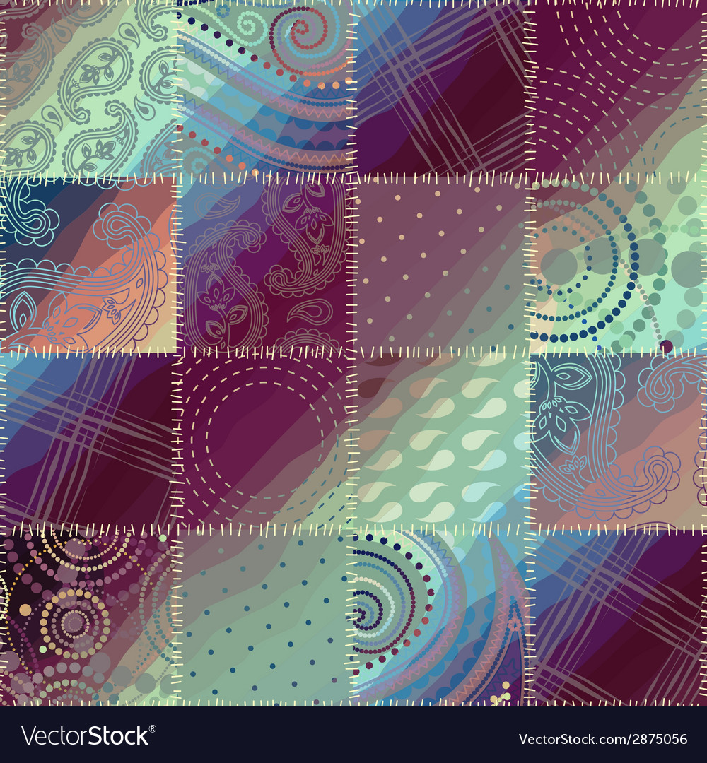 Patchwork pattern vector | Price: 1 Credit (USD $1)
