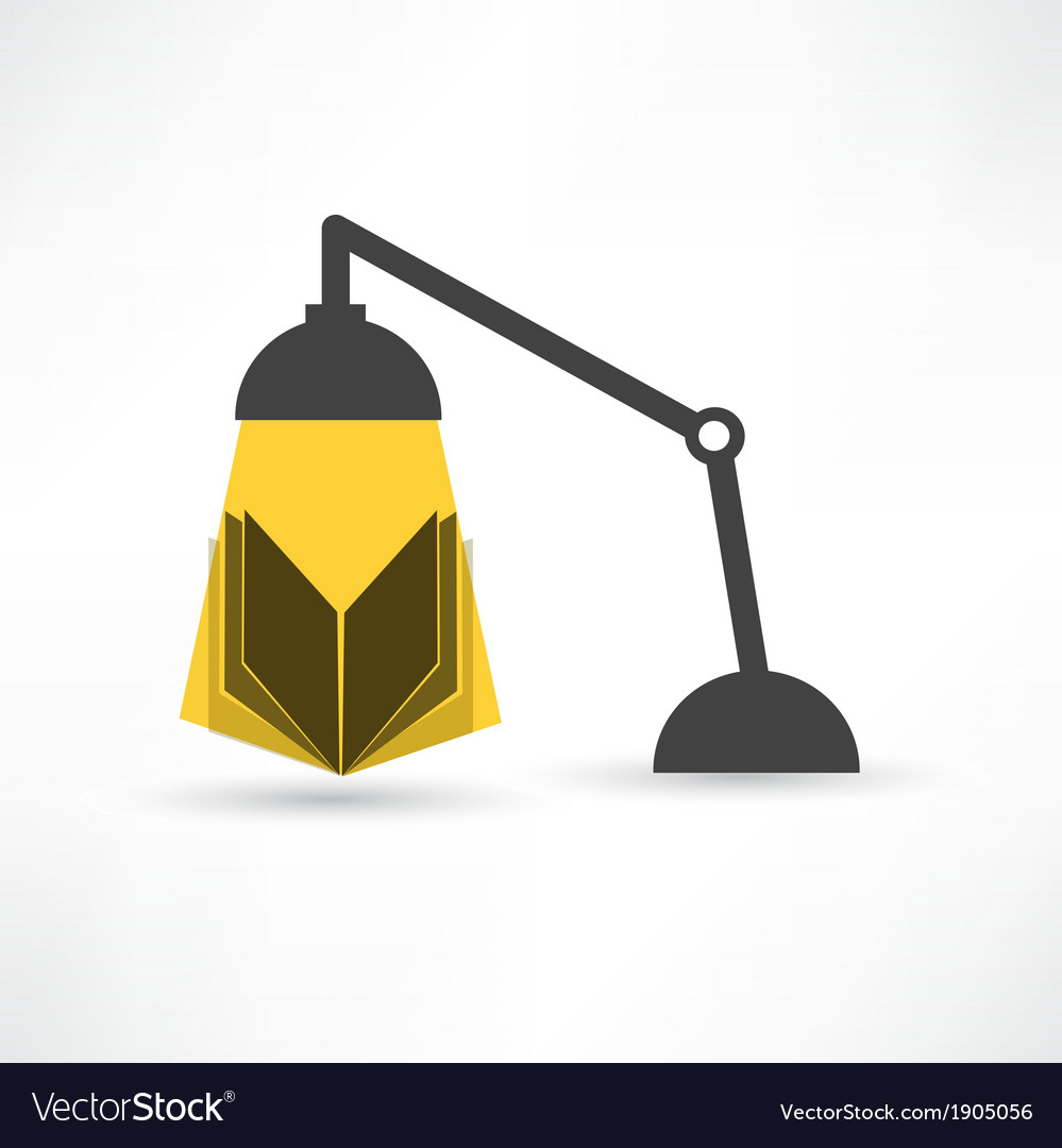Study with a book and lamp vector | Price: 1 Credit (USD $1)