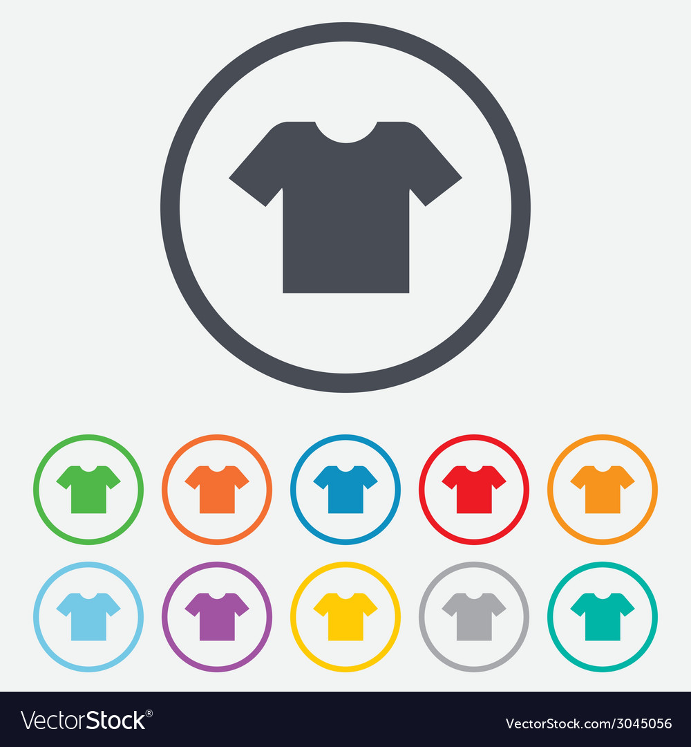 T-shirt sign icon clothes symbol vector | Price: 1 Credit (USD $1)
