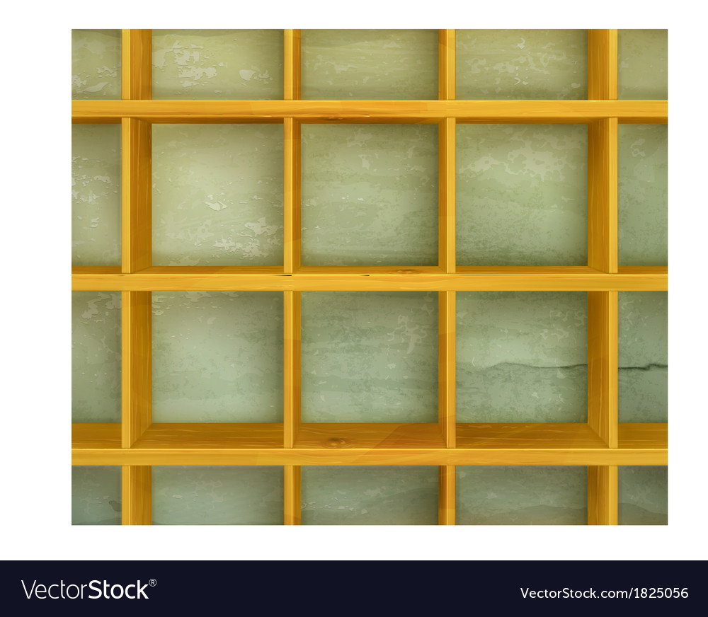 Wooden shelves background vector | Price: 1 Credit (USD $1)