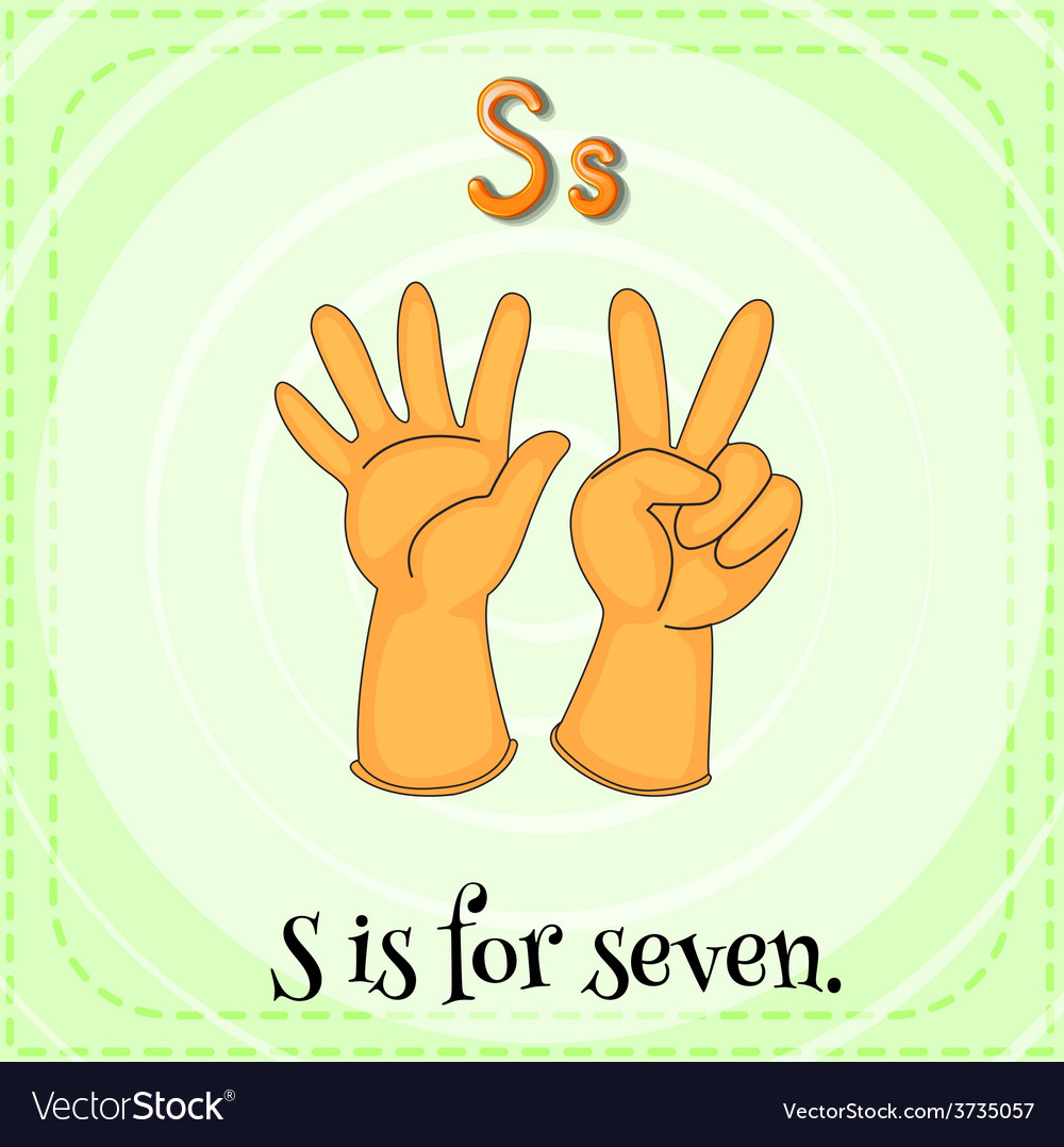 A letter s for seven vector   Price: 1 Credit (USD $1)