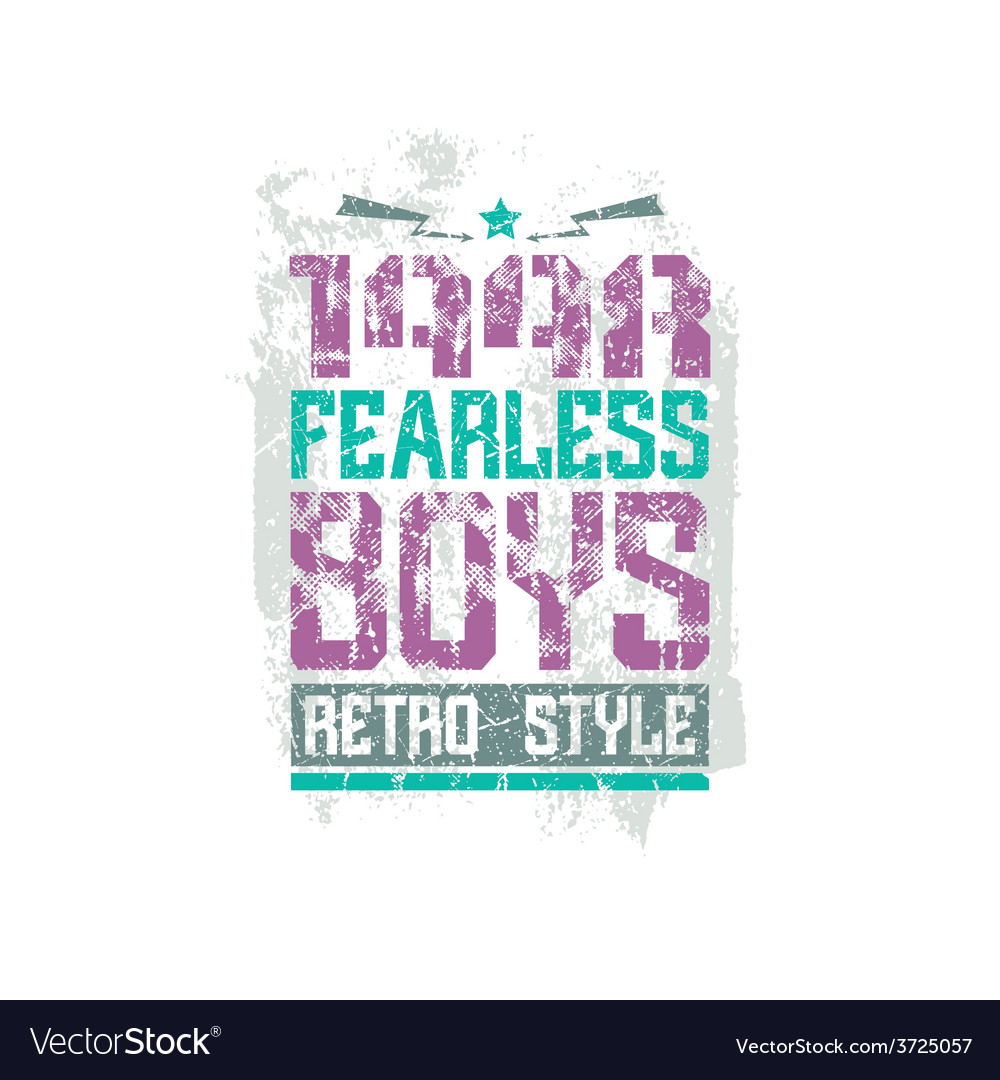 Fearless boys team emblem vector | Price: 1 Credit (USD $1)