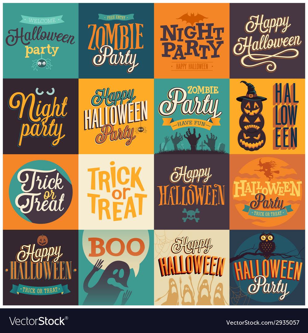 Halloween emblems set vector | Price: 1 Credit (USD $1)