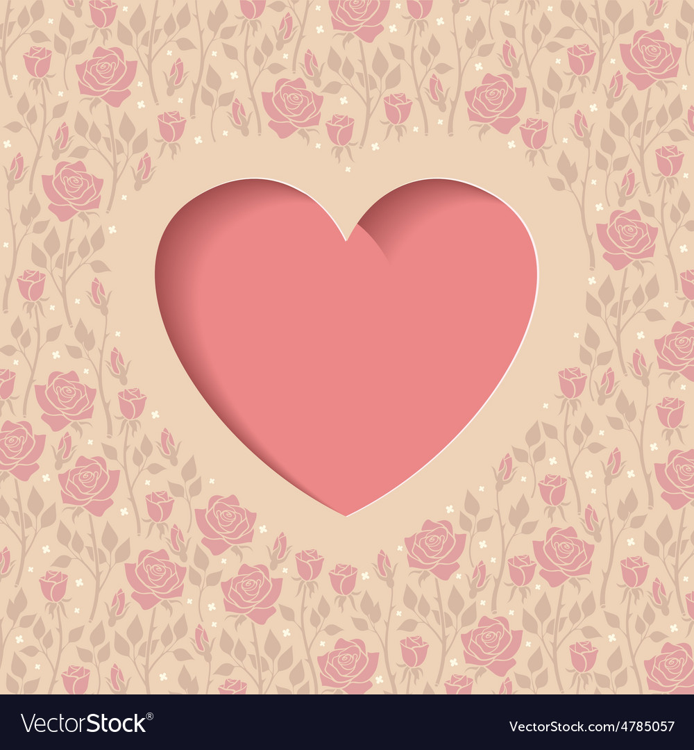 Heart and roses vector | Price: 1 Credit (USD $1)