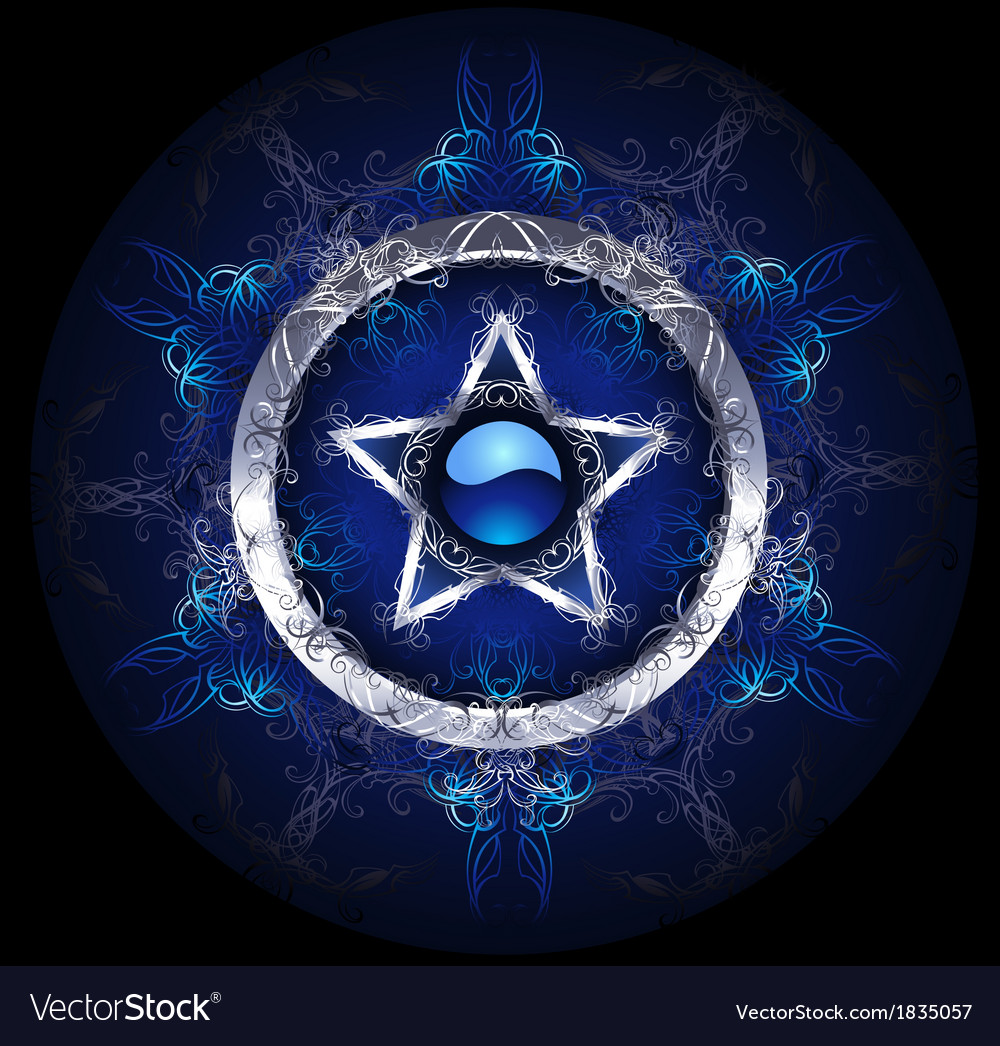 Mystic blue star vector | Price: 1 Credit (USD $1)