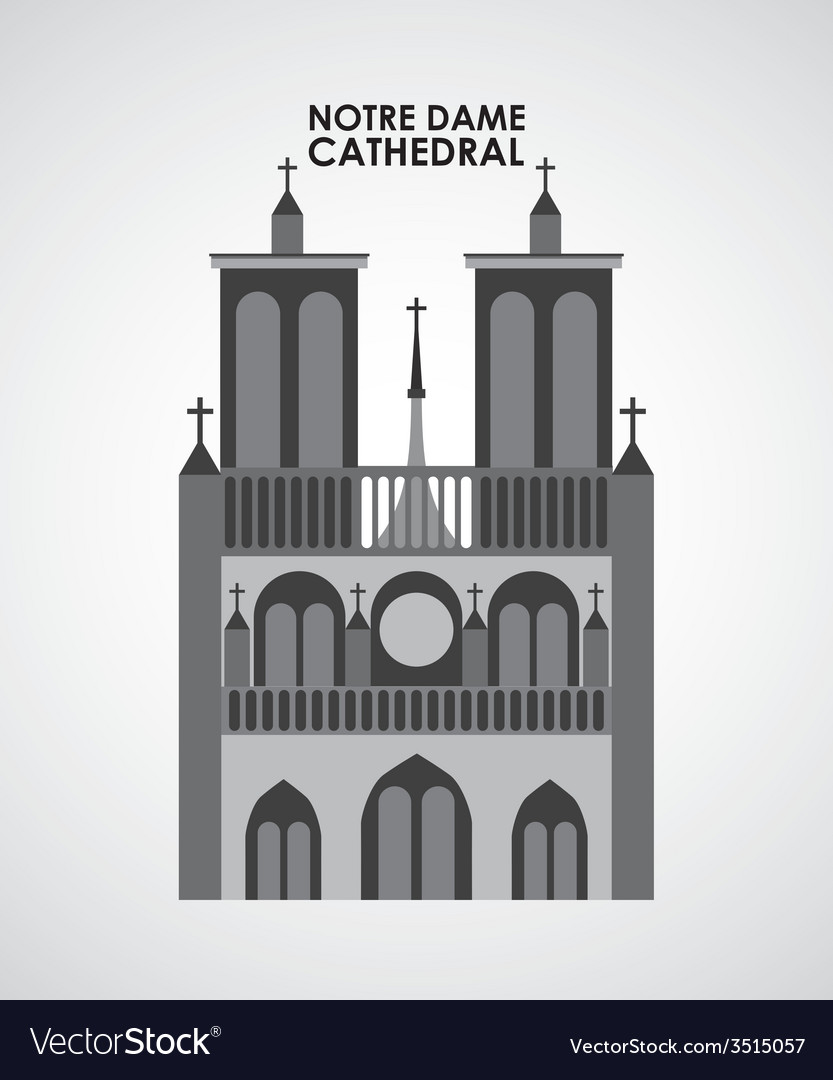 Notre dame cathedral vector | Price: 1 Credit (USD $1)