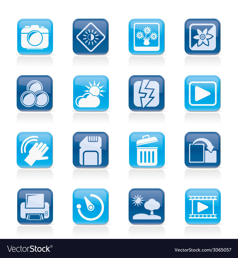 Photography and camera function icons vector   Price: 1 Credit (USD $1)