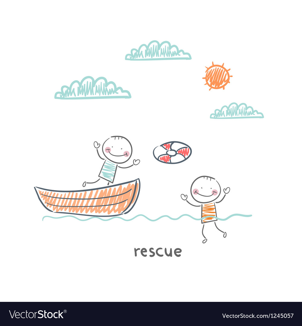 Rescuer vector | Price: 1 Credit (USD $1)