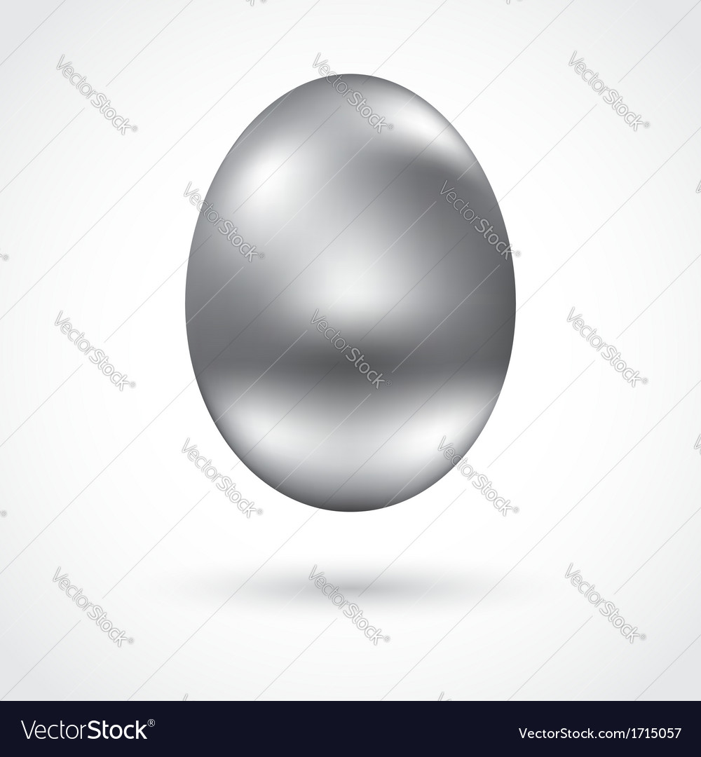 Silver egg vector | Price: 1 Credit (USD $1)