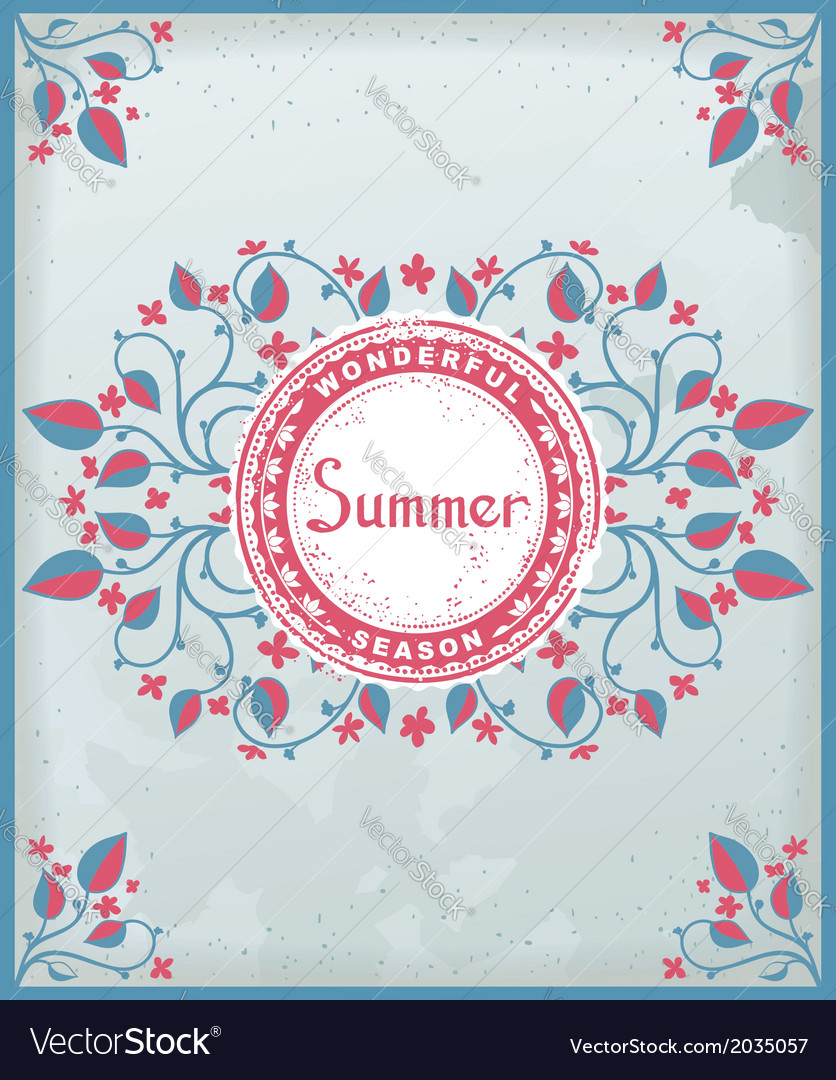 Summer poster in provence style vector | Price: 1 Credit (USD $1)