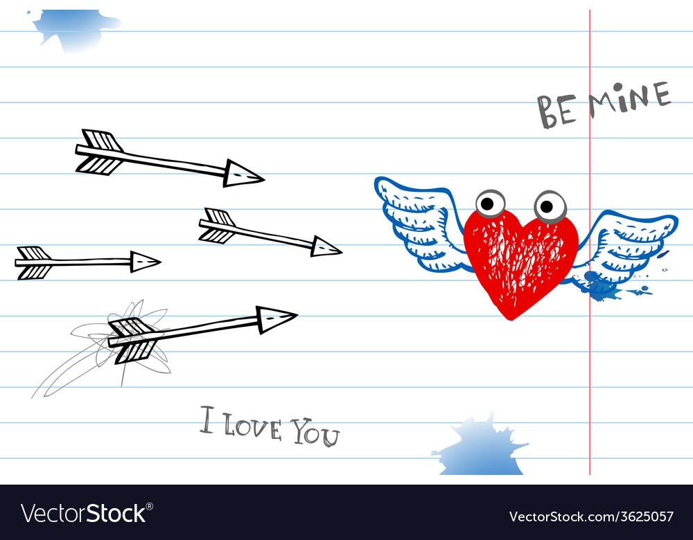 Valentine doodles vector | Price: 1 Credit (USD $1)