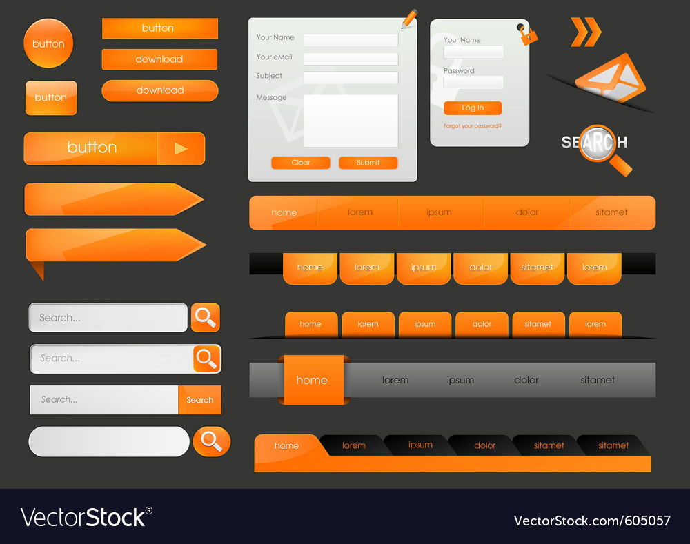 Web design elements vector | Price: 3 Credit (USD $3)