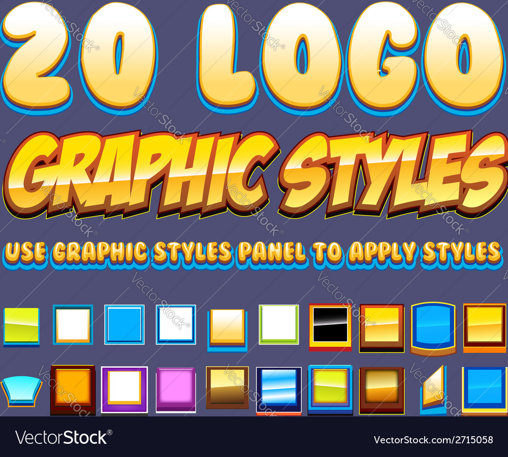 Comic graphic styles vector | Price: 1 Credit (USD $1)