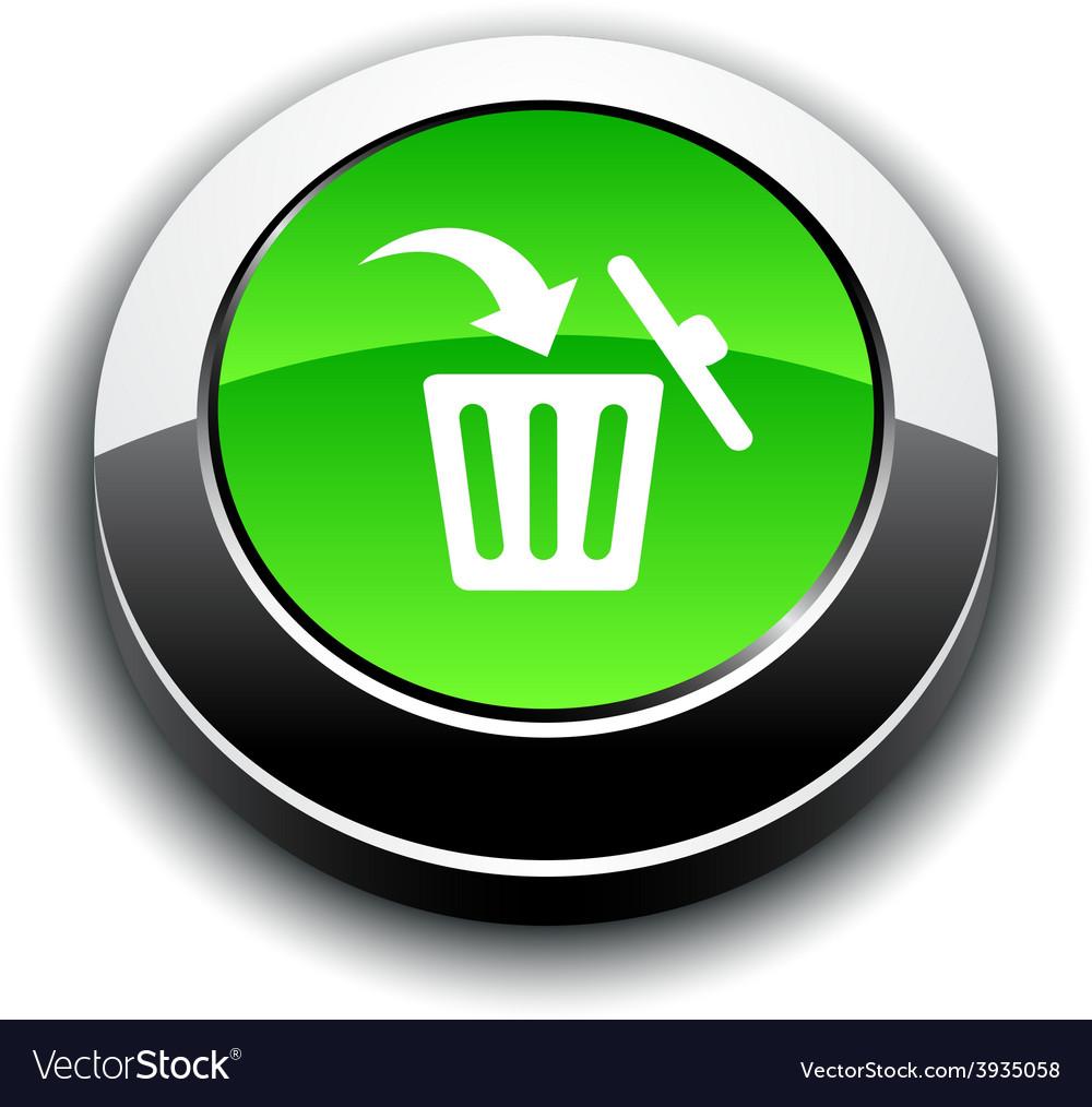 Delete 3d round button vector | Price: 1 Credit (USD $1)