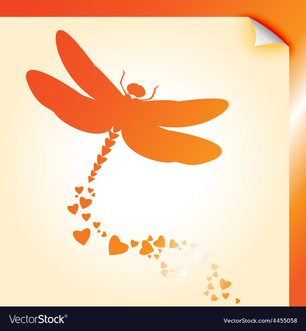 Dragongly decal orange vector | Price: 1 Credit (USD $1)