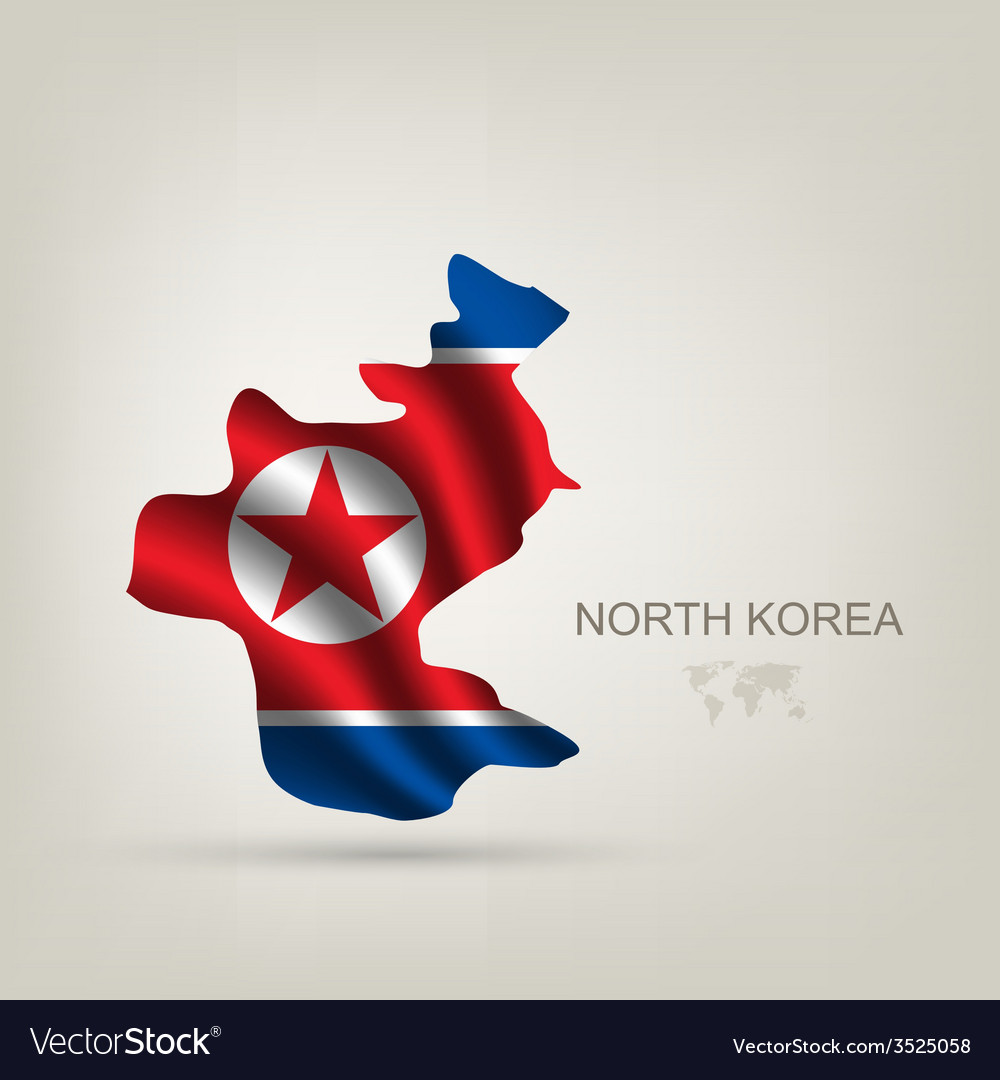 Flag of north korea as a country vector | Price: 1 Credit (USD $1)