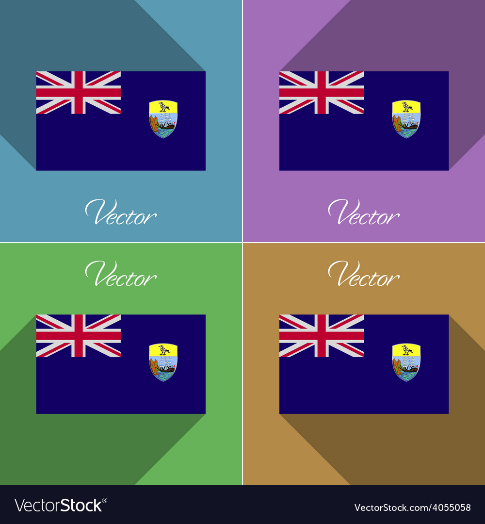 Flags saint helena set of colors flat design and vector | Price: 1 Credit (USD $1)