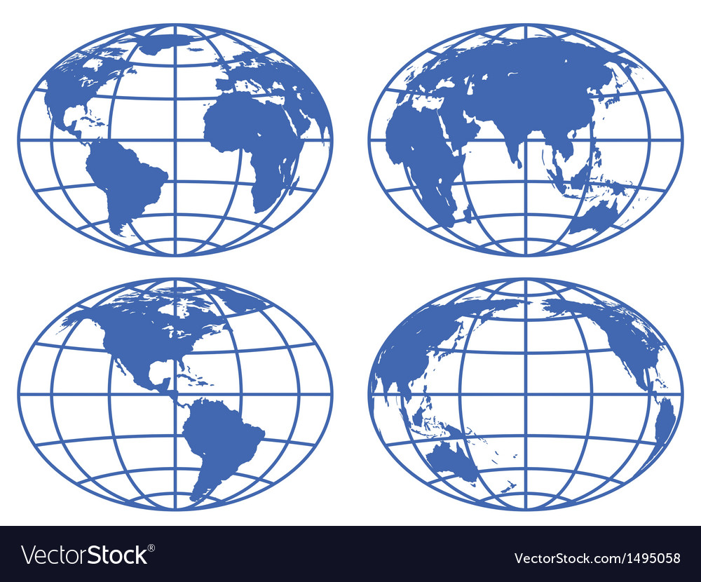 Globe maps vector | Price: 1 Credit (USD $1)