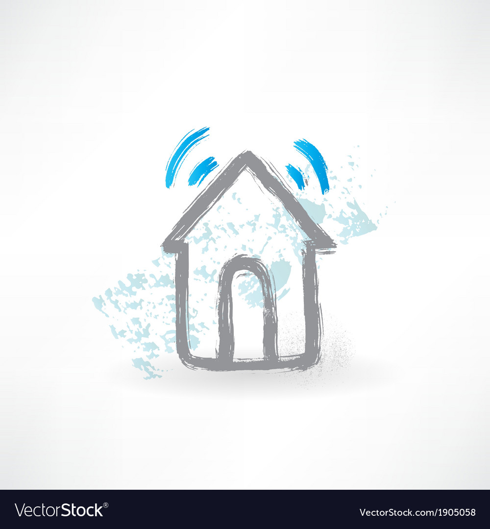 House grunge icon vector | Price: 1 Credit (USD $1)