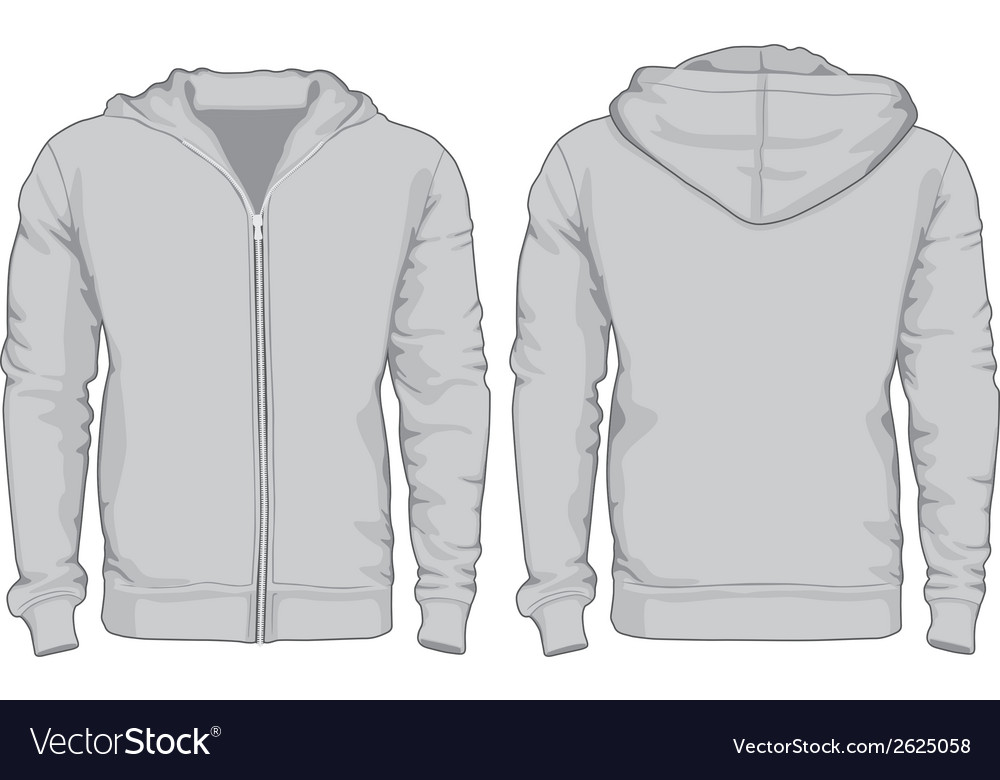 Mens hoodie shirts template front and back views vector | Price: 1 Credit (USD $1)