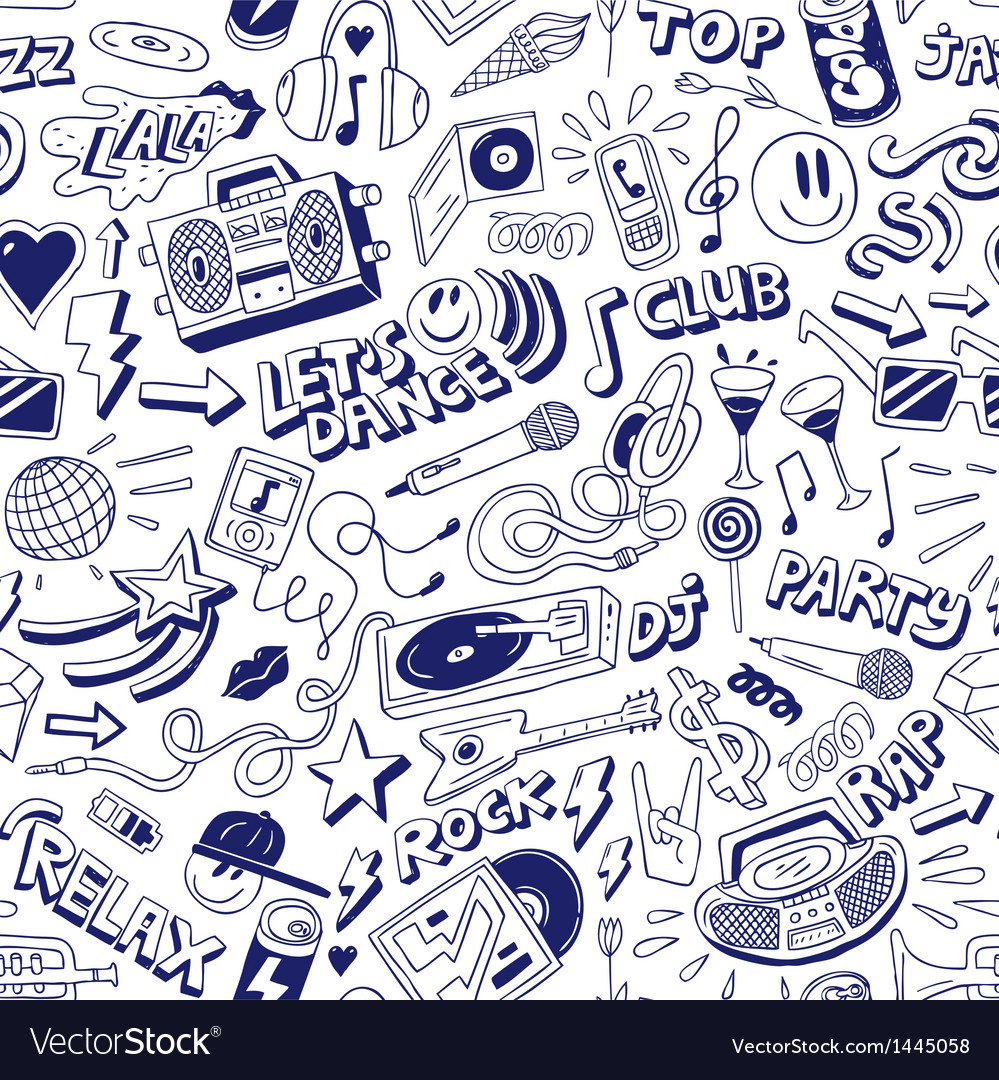 Music party - seamless background vector | Price: 1 Credit (USD $1)