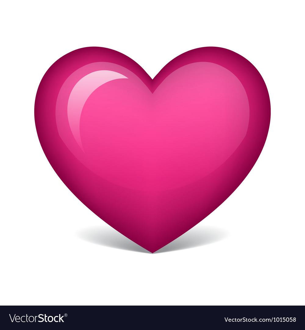 Pink heart vector | Price: 1 Credit (USD $1)