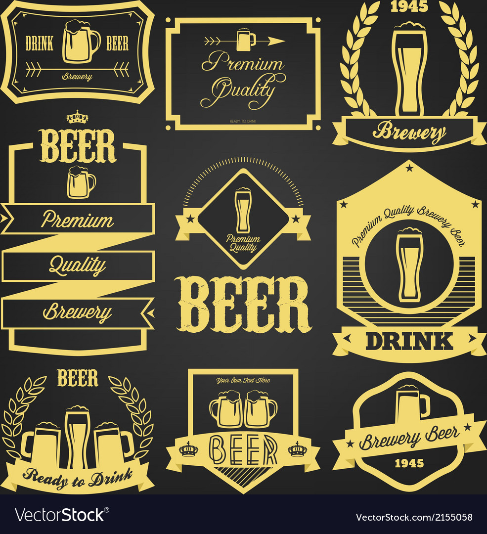 Premium beer label design vector | Price: 1 Credit (USD $1)