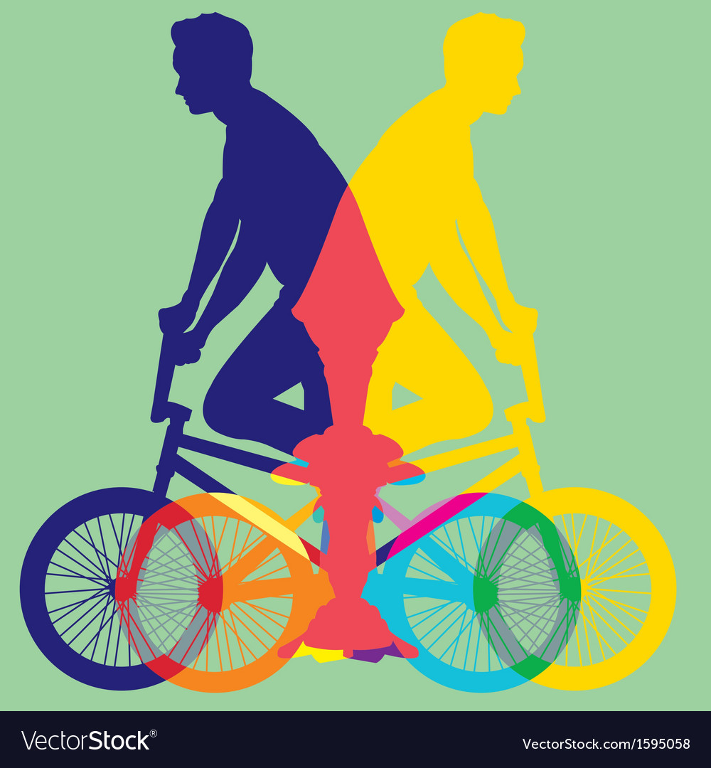 Ride bicycle vector | Price: 1 Credit (USD $1)