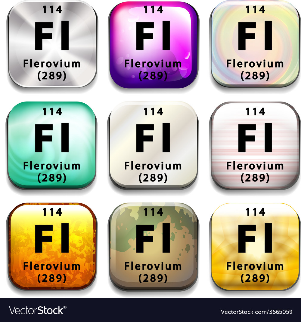 A periodic table showing flerovium vector | Price: 1 Credit (USD $1)