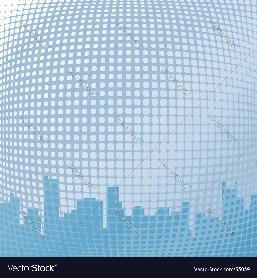 Abstract blue skyline background vector | Price: 1 Credit (USD $1)