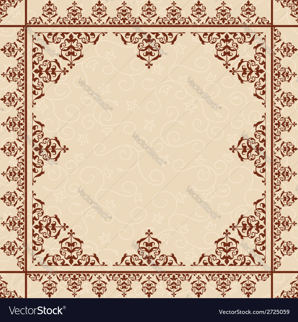 Beige floral background with victorian ornament vector | Price: 1 Credit (USD $1)