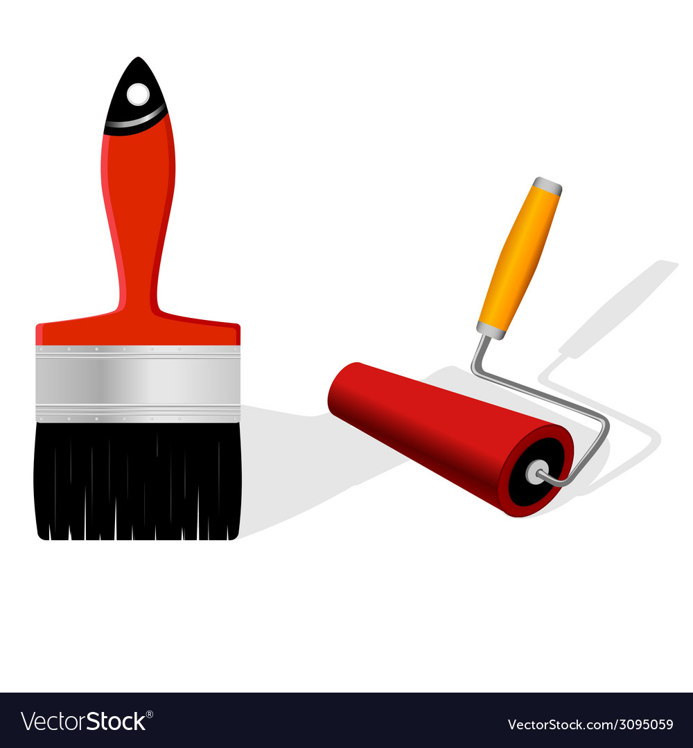 Brush and roller vector | Price: 1 Credit (USD $1)