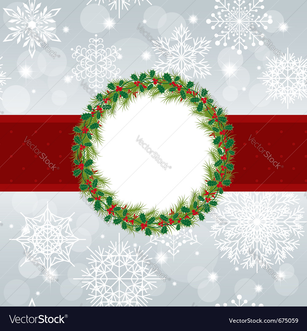 Christmas greeting card vector | Price: 1 Credit (USD $1)